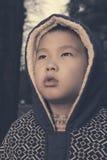 upset kid retro style  Royalty Free Stock Photography