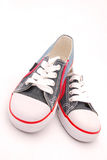Blue kids shoes Stock Images