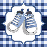 Blue kids sneaker Royalty Free Stock Image