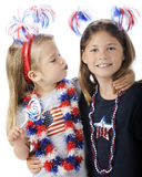 Blue Kisses on the Fourth Stock Photography