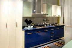 Blue kitchen Stock Photography