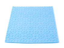 Blue kitchen cleaning napkin rag over white isolated background Royalty Free Stock Photo