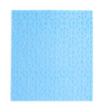 Blue kitchen cleaning napkin rag over white isolated background Stock Images