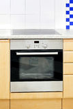 Blue kitchen oven stock images
