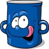 Blue kitchen pot - funny vector illustration Royalty Free Stock Photo