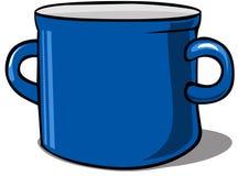 Blue kitchen pot -  vector illustration Royalty Free Stock Image