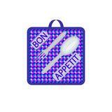 Blue kitchen potholder Royalty Free Stock Image