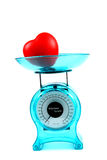 Blue kitchen scale Royalty Free Stock Photo