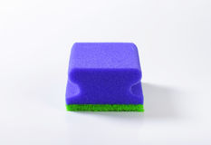 Blue kitchen sponge Stock Image