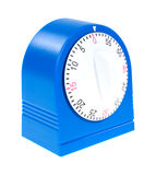 Blue kitchen timer Royalty Free Stock Images