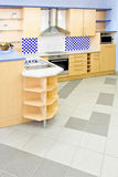 Blue kitchen vertical Royalty Free Stock Photos