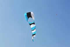 Blue kite at International Kite Festival, Ahmedabad Royalty Free Stock Photography