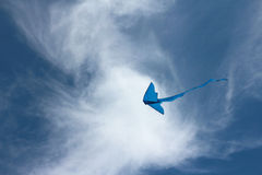 Blue kite Royalty Free Stock Photography