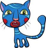 Blue kitten or cat cartoon Royalty Free Stock Photo