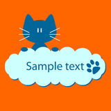 Blue kitty Royalty Free Stock Photos