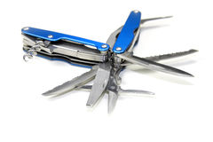 Blue knife isolated on white background Stock Image