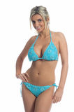 Blue Knit Bikini Royalty Free Stock Photo