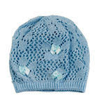 Blue knit cap. The blue knit cap. Isolate on white Royalty Free Stock Image