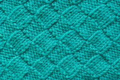 Blue knitted background Stock Photos