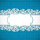 Blue knitted background Stock Images