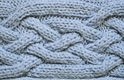 Blue knitted background Stock Image