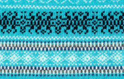 Blue knitted background Stock Photo