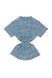 Blue knitted blouse Stock Photography