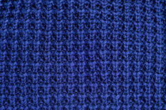 Blue knitted fabric Royalty Free Stock Photo
