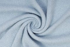 Blue knitted fabric. Stock Image