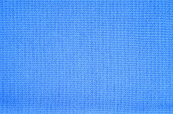 Blue knitted fabric Stock Photography