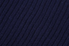 Blue knitted fabric Royalty Free Stock Photography