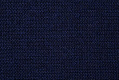 Blue knitted fabric Stock Photos