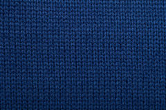 Blue knitted fabric cloth pattern Stock Image