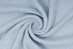 Blue knitted fabric Stock Photo