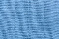 Blue knitted fabric texture Royalty Free Stock Image