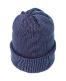 Blue knitted hat. Stock Photography