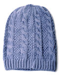 Blue knitted hat Stock Photography