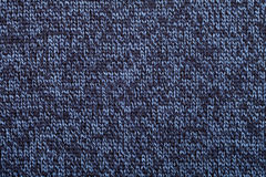 Blue knitted melange fabric cloth pattern Stock Photo