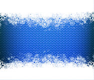 Blue knitted narrow band background for winter Stock Photos