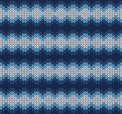 Blue knitted pattern Stock Image