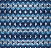 Blue knitted pattern Stock Photo