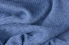 Blue knitted pullover background Stock Image