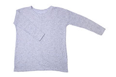 Blue knitted sweater Royalty Free Stock Photo