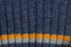 Blue knitted sweater texture Royalty Free Stock Photography