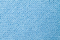 Blue knitted texture Royalty Free Stock Image