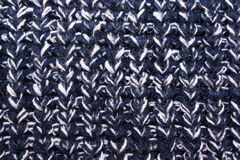 Blue knitted texture. Stock Image