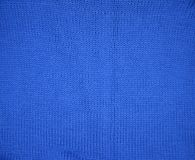 Blue knitted texture pattern background royalty free stock image