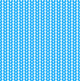 Blue knitted vector seamless pattern Stock Photos