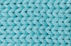 Blue knitted wool Royalty Free Stock Photos