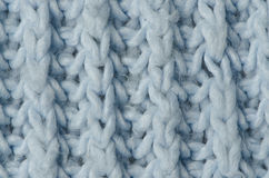 Blue knitted wool Stock Photo